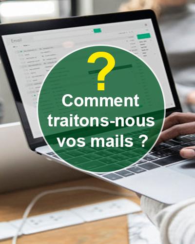 Comment traitons-nous vos mails ?