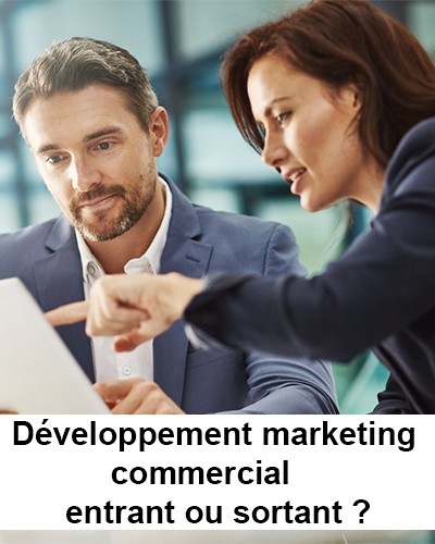 Développement marketing commercial entrant ou sortant